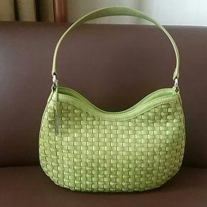 Elliot lucca leather woven handbag